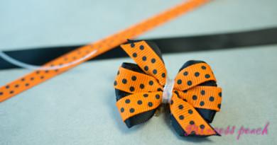 [媽媽手作] 紙板輕鬆做出寶寶風車蝴蝶結髮飾 (Pinwheel Hairbow) – 廢紙箱再利用