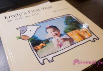 [開箱] 茉莉週歲照片書 by 健豪數位印刷 & Shutterfly (內含製作心得分享)